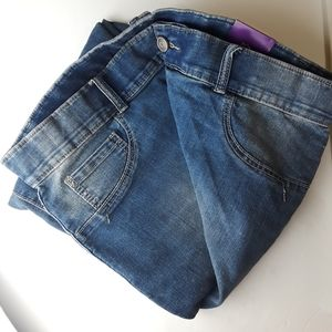 NWT Distressed Jeans Lane Bryant Skinny Size 22